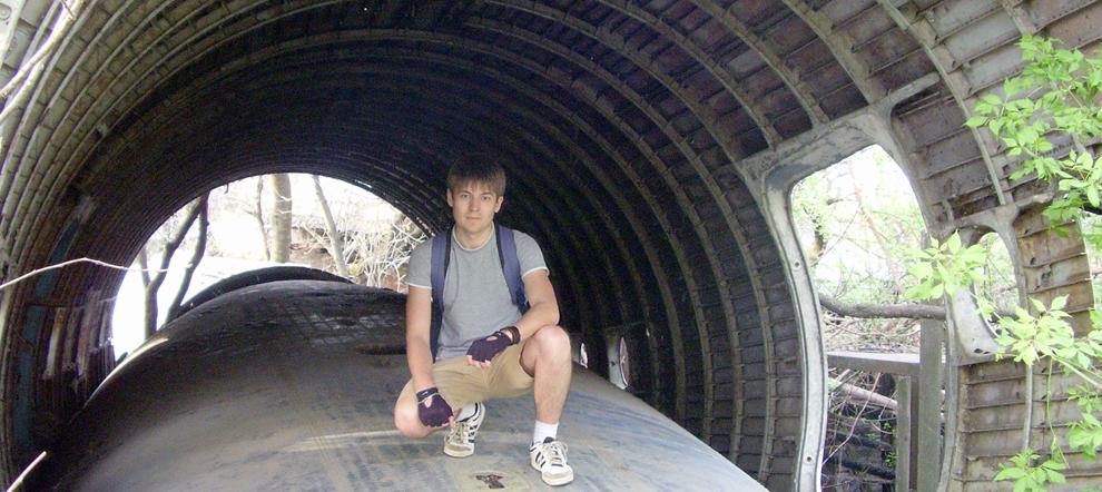 Обломки самолёта возле парка 30-летия Победы. Краснодар.