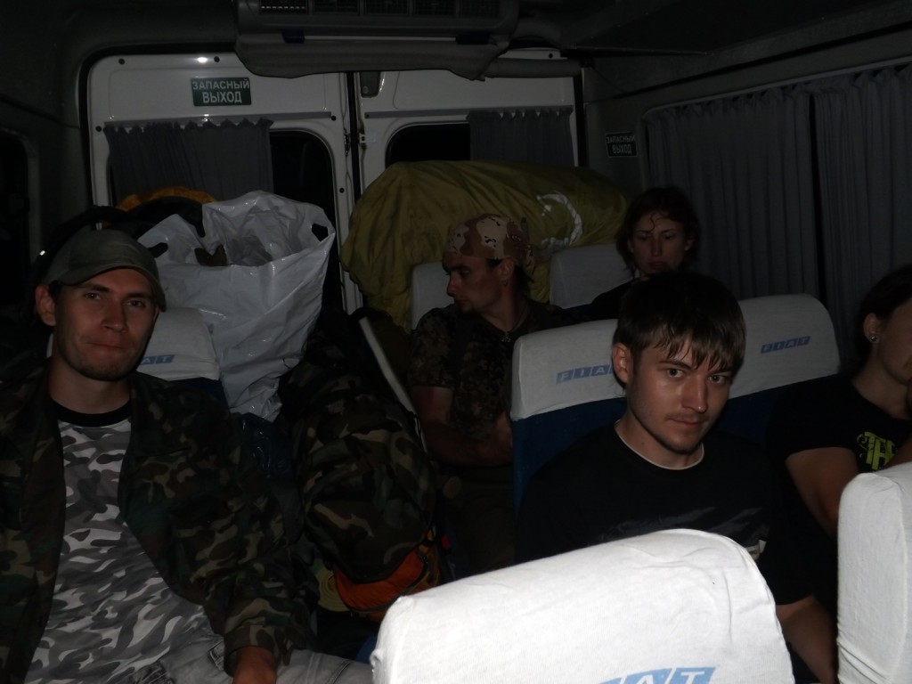 В маршрутке после утомительного трекинга до Партизанки