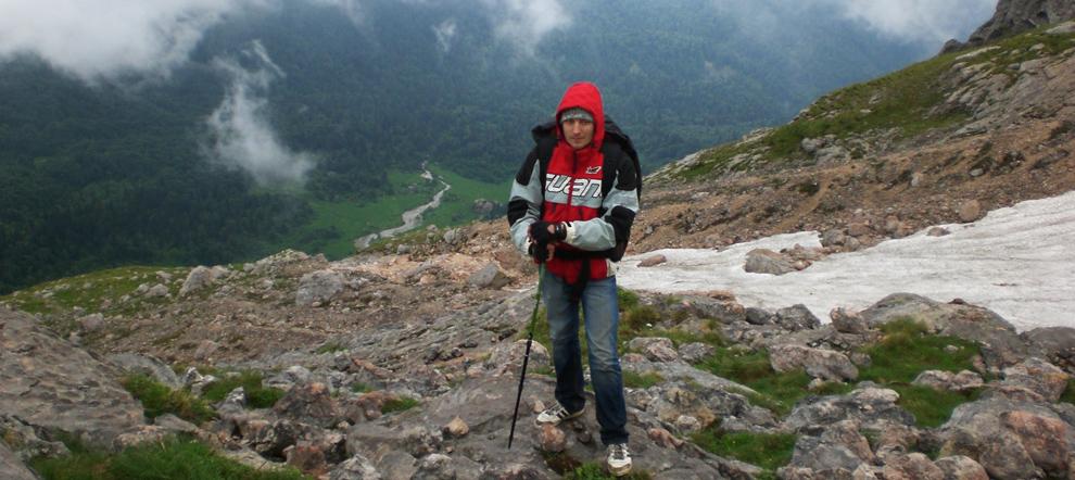 Первая попытка восхождения на гору Фишт по классике (в июне)