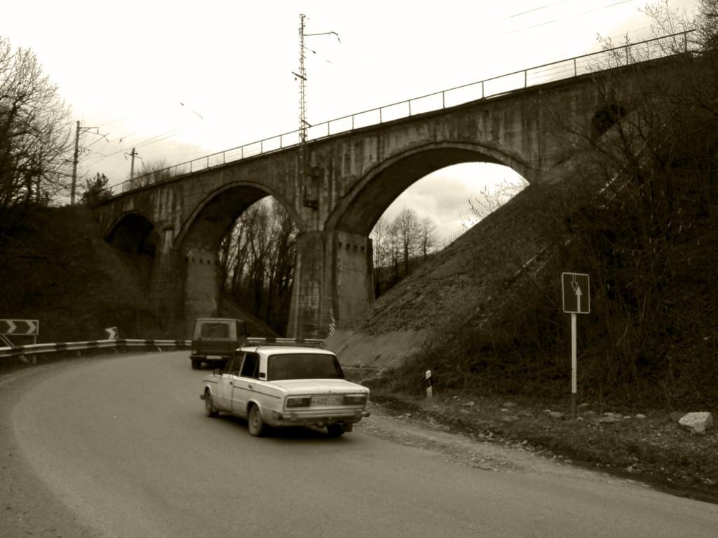 Мост в районе станции Индюк