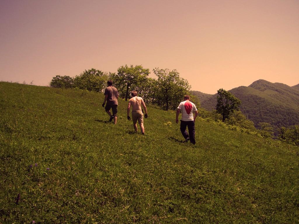 На перевале (хребет Хазарова)