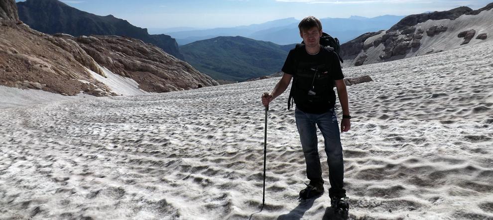 Восхождение на гору Фишт в Июле через Большой фиштинский ледник