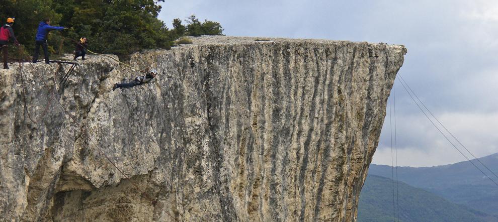Разбежавшись прыгнуть со скалы... Роуп-джампинг в Качи-Кальоне. Крым.