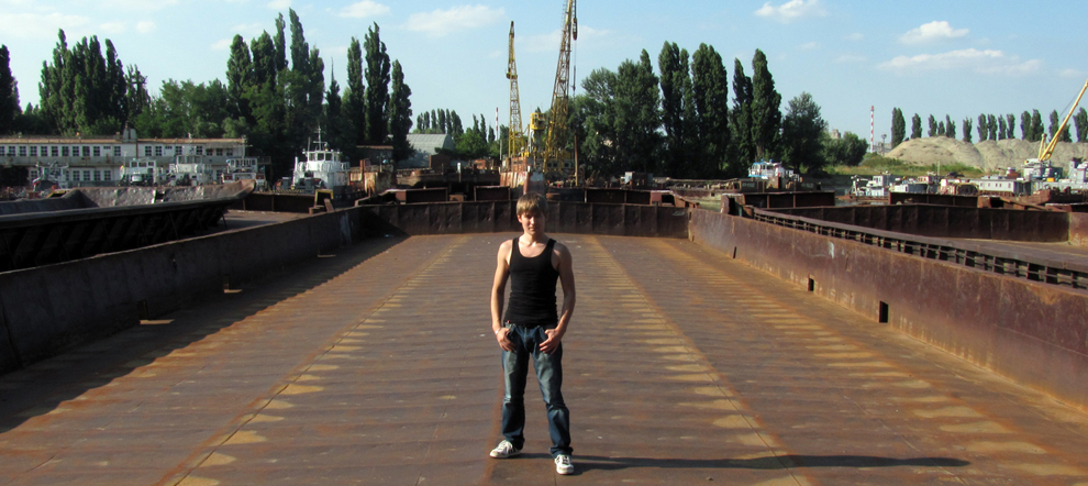 Кладбище заброшенных барж. Затон, речной порт. Краснодар.