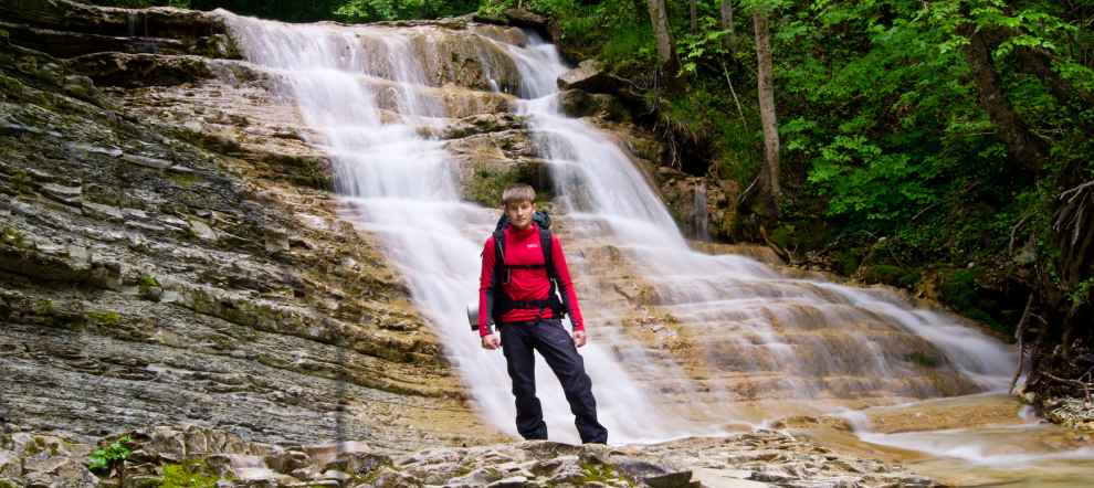Пшадские водопады (в Молдованской щели), пшадские дольмены, джиппинг по Пшаде. Геленджикский район.