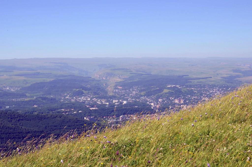 Вид на Кисловодск с горы Кабан. Кисловодск.