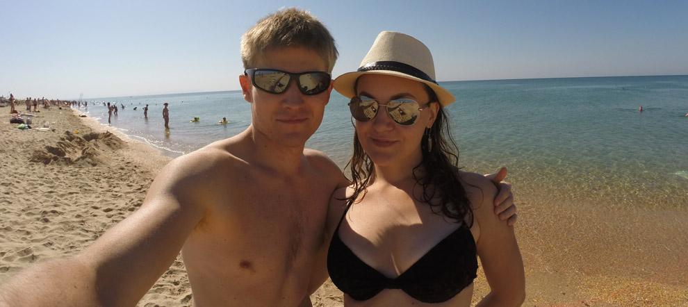 Станица Благовещенская. Море. Пляж.