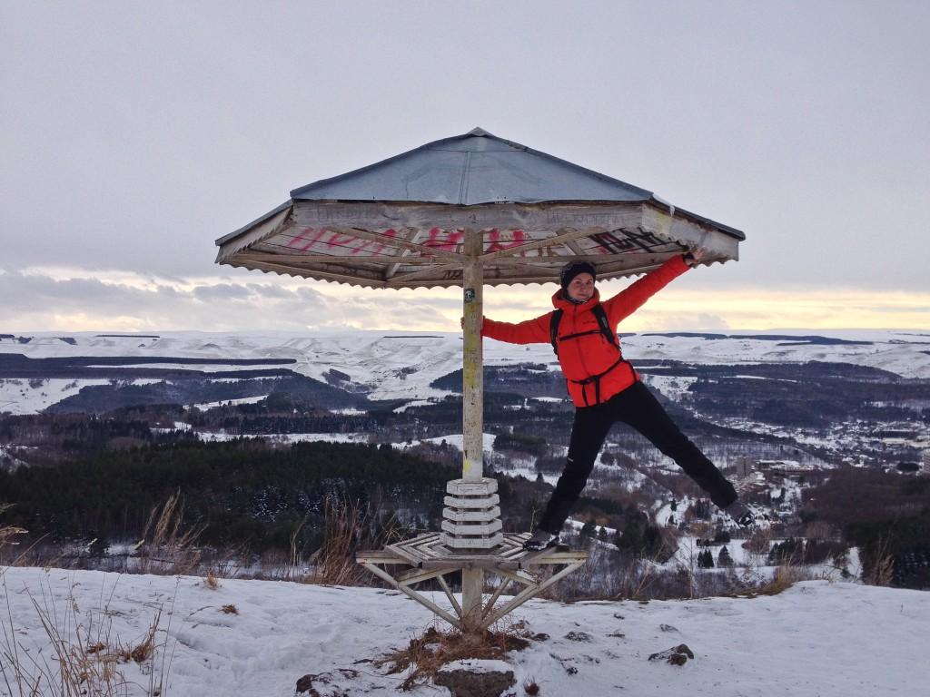 Гриб на спуске с горы Малое Седло