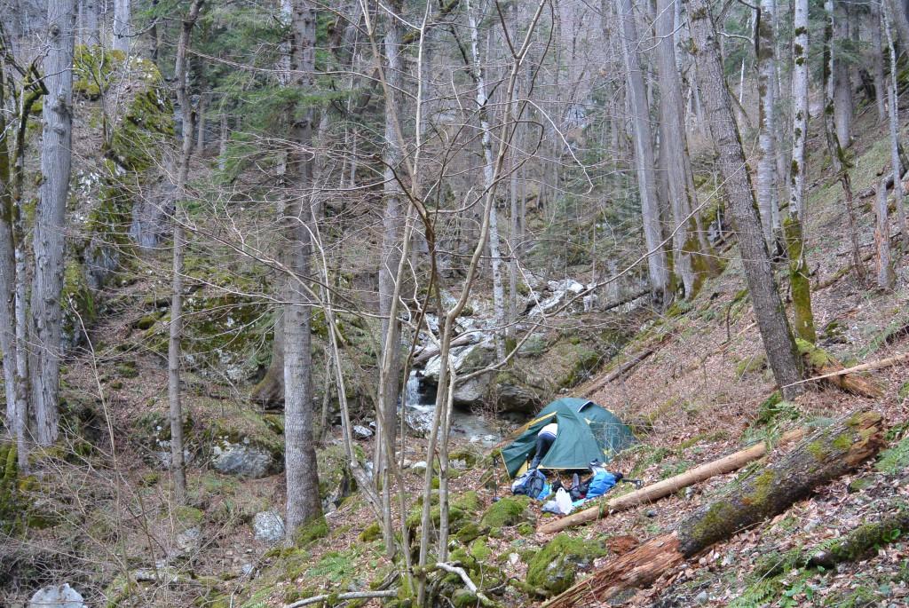 Лагерь в районе Балки Лубочная