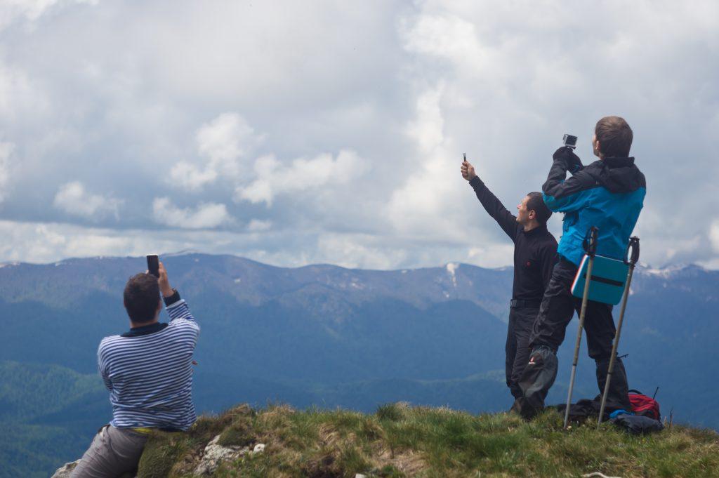 На вершине горы Черногор