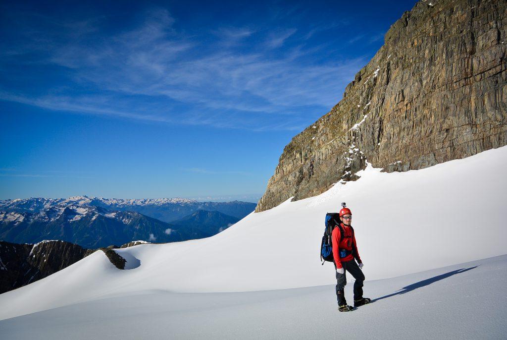 На леднике под горой Чугущ