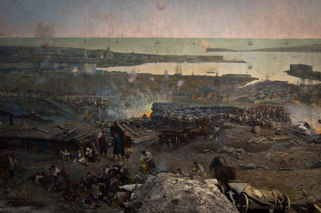 Панорама первой обороны Севастополя